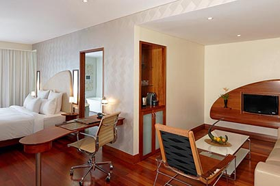 The Dakota Junior Suites offer stylish and comfort  with even more space and amenity.