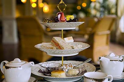 The stylish Seven C's café serves up afternoon High Tea on Sunday and breakfast and lunch specials