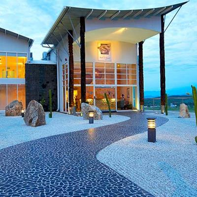 Perched on a hilltop, surrounded by breathtaking views